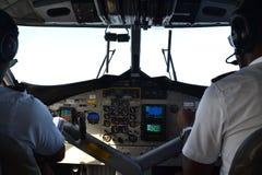 Flygdäck under flyg Royaltyfri Bild