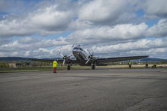 Flygdag 11 Maj, 2014 på Kjeller (airshow) Royaltyfri Foto