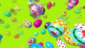 Flygeaster ägg frambragte videoen 3D royaltyfri illustrationer