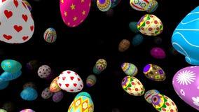 Flygeaster ägg frambragte videoen 3D vektor illustrationer