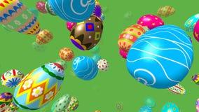 Flygeaster ägg frambragte videoen för 3D 4K vektor illustrationer