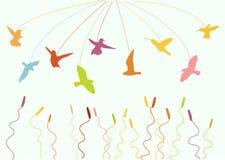 Flygfåglar Royaltyfri Foto