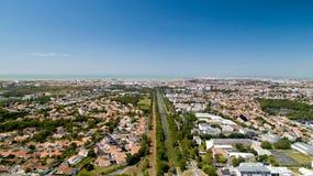 Flygfotografering av den La Rochelle staden arkivfoto