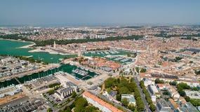 Flygfotografering av den La Rochelle staden royaltyfri fotografi