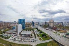 Flygfotografering av en modern stad royaltyfri foto