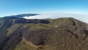 Flygfotografering av rumänska Montains Royaltyfri Fotografi