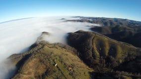 Flygfotografering av rumänska Montains Fotografering för Bildbyråer
