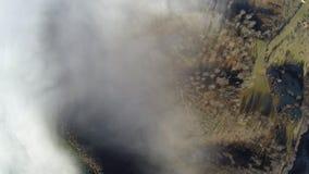 Flygfotografering av rumänska Montains Arkivfoto