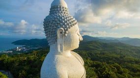 flygfotografering den vita stora Phuket's stora Buddha i Royaltyfria Bilder
