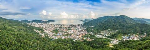 flygfotografering på den Patong stranden Arkivbilder