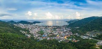 flygfotografering på den Patong stranden Royaltyfri Foto