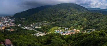 flygfotografering på den Patong stranden Royaltyfri Fotografi