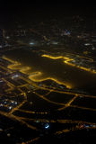 Flygfotografering på natten Arkivbilder