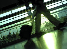 flygframställning Fotografering för Bildbyråer