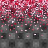 Flyghärdkonfettier på genomskinlig bakgrund royaltyfri illustrationer