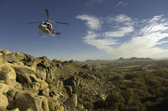 flyghelikopter Arkivfoto