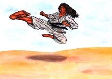 Flygkarateförlagen makten av Karate-gör, 2017 Royaltyfria Foton