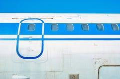 Flygkropp av gammal sovjetisk passagerarflygplan Fotografering för Bildbyråer