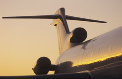 Flygkropp och tailplane av Boeing 727 Arkivbilder
