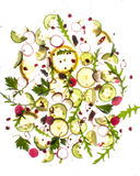 Flygmat - kiwin, limefrukt, persilja, sald, brussel - groddar Royaltyfria Foton