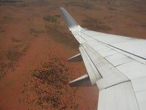 flygnt över Arkivfoton