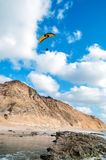 Flygparaglider Arkivfoton