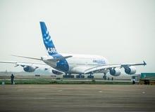 Flygplan A380 Fotografering för Bildbyråer