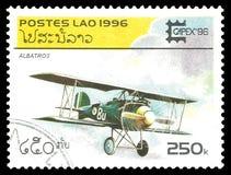Flygplan Albatros i flykten Arkivbild