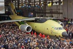 Flygplan Antonov An-178 royaltyfri fotografi