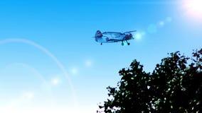 Flygplan Antonov AN-2 - legendariskt flygplan för att tappa fallskärmsjägare på jordningen lager videofilmer