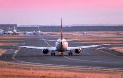 flygplan av klart tar till Royaltyfria Bilder
