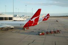 Flygplan av Qantas Royaltyfri Foto