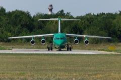 Flygplan BA-146 i Rostov-On-Don Fotografering för Bildbyråer