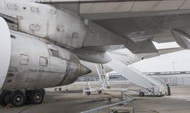 Flygplan Boeing 747 i museet av astronautik och flyg Royaltyfri Bild
