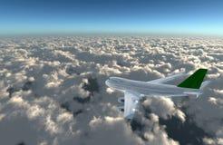 flygplan bort Fotografering för Bildbyråer