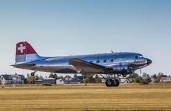 Flygplan DC3 royaltyfri foto