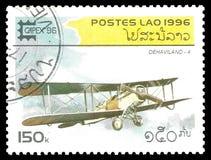 Flygplan Dehaviland Arkivbild