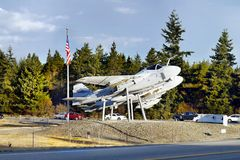 Flygplan ekhamn, Whidbey ö, Washington Royaltyfri Fotografi