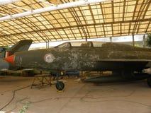 Flygplan för Bangalore Karnataka, Indien - Januari 1, 2009 gammalt kämpe MIG-21 på HAL Aerospace Museum royaltyfri bild