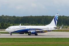 Flygplan för Boeing 737-800 nästa generationstråle Royaltyfri Bild
