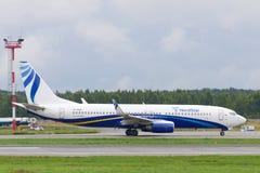 Flygplan för Boeing 737-800 nästa generationstråle Royaltyfria Bilder
