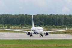 Flygplan för Boeing 737-800 nästa generationstråle Fotografering för Bildbyråer
