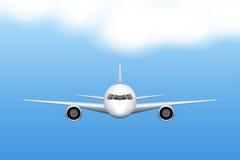 Flygplan för borgerligt flygplan royaltyfri illustrationer
