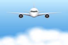 Flygplan för borgerligt flygplan stock illustrationer