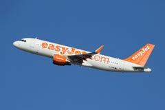 Flygplan för Easyjet flygbuss A320 arkivbild