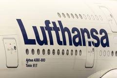 Flygplan för flygbuss A380 Royaltyfria Foton