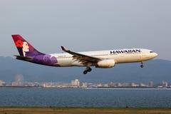 Flygplan för Hawaiian Airlines flygbuss A330-200 Arkivfoto