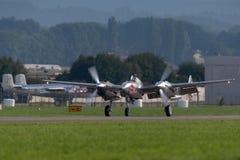 Flygplan för kämpe för krig för Lockheed P-38 blixtvärld II fungerings av flygatjursamlingen arkivfoto