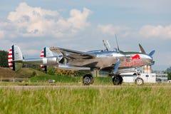 Flygplan för kämpe för krig för Lockheed P-38 blixtvärld II fungerings av flygatjursamlingen arkivbilder