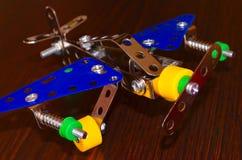 Flygplan för liten modell Arkivfoto